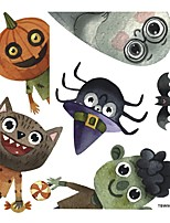 cheap -33*36cm New Cartoon Halloween Monster Sticker Self Adhesive Wall Stickers Creative Children's Room Door Window Wall Decoration