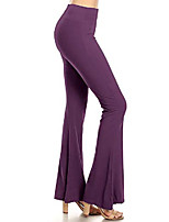 cheap -purple s solid palazzo pants  small