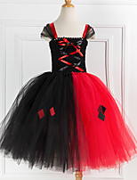 cheap -Witch Cosplay Costume Costume Girls' Movie Cosplay Tutus Plaited Vacation Dress Black Dress Christmas Halloween Carnival Polyester / Cotton Polyester