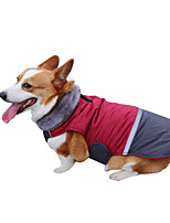 cheap -Dog Coat Vest Color Block Classic Style Sports Outdoor Winter Dog Clothes Puppy Clothes Dog Outfits Waterproof Black Red Pink Costume for Girl and Boy Dog Polyster XS S M L XL XXL