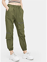 cheap -Women's Hiking Cargo Pants Summer Outdoor Windproof Breathable Quick Dry Wearproof Cargo Pants Bottoms Black Yellow Army Green Camping / Hiking Hunting Fishing S M L XL / Full Length / Multi-Pocket