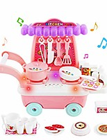 cheap -mini simulation dining car music lighting kitchen children role play toys sets