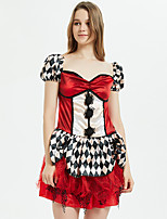 cheap -Alice's Adventures in Wonderland Queen of Hearts Dress Cosplay Costume Masquerade Women's Movie Cosplay Cosplay Vacation Dress Halloween Red Dress Halloween Carnival Masquerade Polyester