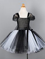 cheap -Princess Cosplay Costume Costume Girls' Movie Cosplay Tutus Plaited Vacation Dress Black / Brown Dress Christmas Halloween Carnival Polyester / Cotton Polyester