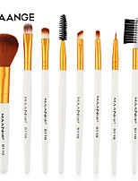 cheap -8pcs makeup brushes set,long handle premium foundation powder eyeliner eyebow comb eyeshadow blush brushes set cosmetic tools (a)