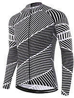 cheap -21Grams Men's Long Sleeve Cycling Jersey Grey Bike Jersey Top Mountain Bike MTB Road Bike Cycling UV Resistant Breathable Quick Dry Sports Clothing Apparel / Stretchy
