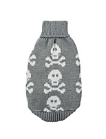cheap -Dog Halloween Costumes Sweater Skull Party Party Halloween Winter Dog Clothes Breathable Red Gray Costume Cotton Polyster XS S M L XL
