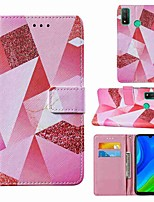 cheap -Case For Huawei P smart 2020 Honor 9S Y5p Wallet Card Holder with Stand Full Body Cases Pink Diamond PU Leather TPU for Huawei Y6p