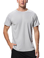 cheap -beautyin mens men's solid upf 50+ rashguard shirt short sleece swim shirt swimwear,solid light gray, 2xl