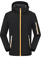 cheap -Women's Hiking Jacket Winter Outdoor Thermal Warm Waterproof Windproof Fleece Lining Jacket Full Length Hidden Zipper Climbing Camping / Hiking / Caving Traveling Black / Yellow / Breathable
