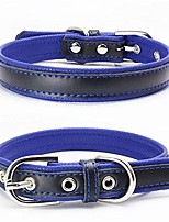 cheap -dog collar padded leather soft touch pet collar for large,medium,small dogs(purple,s)