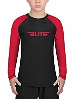 cheap -rash guards for boys and girls, full sleeve compression bjj kids and youth rash guard (red, x-small)