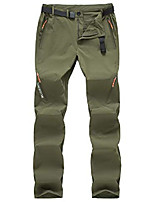 cheap -mens hiking quick dry lightweight stretch fishing pants outdoor travel climbing trousers(green30x30)