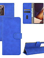 cheap -Case For Samsung Galaxy Note20 Ultra/Note10 Pro/10 Plus/10 /S20 Plus/ 10 e/10 Plus /A91/A81/A71/A51/A41/A31/M31/A90/A20 Card Holder   Shockproof   Flip Full Body Cases Solid Colored PU Leather