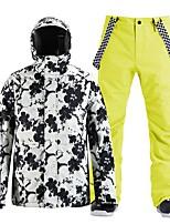 cheap -Men's Ski Jacket with Pants Skiing Snowboarding Winter Sports Waterproof Windproof Warm 100% Polyester Clothing Suit Ski Wear