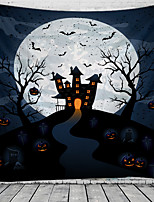 cheap -Halloween Wall Tapestry Art Decor Blanket Curtain Picnic Tablecloth Hanging Home Bedroom Living Room Dorm Decoration Psychedelic Pumpkin Bat Witch Haunted Scary Castle Polyester