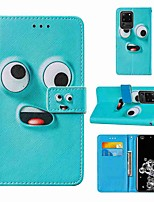 cheap -Case For Samsung Galaxy Note 20 Galaxy Note 20 Ultra Galaxy A21s Wallet Card Holder with Stand Full Body Cases Big Eye Monster PU Leather TPU for Galaxy A51 5G Galaxy A71 5G Galaxy S20 Ultra