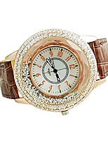 cheap -fashion womens leather strap shinning rhinestones quartz watch ladies dress watches