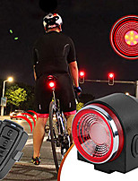 cheap -intelligent bike tail light - smart bike tail light led bicycle rear light ipx65 waterproof cycling taillight suitable for mountain bike/road bike/curise bike 7-20 days delivered (black)