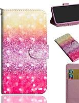 cheap -Case For Sony Sony Xperia L3 / Sony Xperia XZ2 / Xperia XA3 Wallet / Card Holder / with Stand Full Body Cases Color Gradient PU Leather / TPU