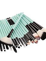 cheap -18 pcs makeup brush set tools make-up toiletry kit wool make up brush set for women (green)