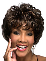 cheap -Synthetic Wig Curly Pixie Cut With Bangs Wig Short Brown Synthetic Hair 14 inch Women's Classic Adorable Cool Brown
