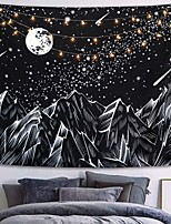 cheap -Wall Tapestry Art Decor Blanket Curtain Picnic Tablecloth Hanging Home Bedroom Living Room Dorm Decoration Polyster Star Moon Meteor Mountain Night View