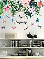 cheap -Leaf Print DIY Wall Stickers Decorative Wall Stickers, PVC Home Decoration Wall Decal Wall Decoration / Removable