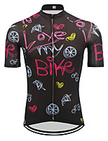 cheap -21Grams Men's Short Sleeve Cycling Jersey Black Novelty Bike Jersey Top Mountain Bike MTB Road Bike Cycling UV Resistant Breathable Quick Dry Sports Clothing Apparel / Stretchy