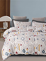 cheap -Colorful Geometric Lines Print 3 Pieces Bedding Set Duvet Cover Set Modern Comforter Cover-3 Pieces-Ultra Soft Hypoallergenic Microfiber Include 1 Duvet Cover and 1 or2 Pillowcases