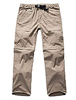 cheap -hiking pants mens convertible quick dry lightweight zip off outdoor fishing travel safari cargo trousers #6062 khaki-32