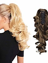 """cheap -claw clip in ponytail extension long curly wavy pony tail hair extensions for women 10"""" - light ash brown"""