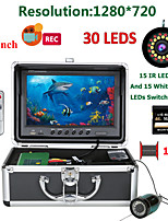cheap -MOUNTAINONE F9AD-2L-15M 9 inch DVR Fish Finder Underwater Fishing 1080P Camera HD 1280*720 Screen15pcs White LEDs+15pcs Infrared Lamp 15m Camera For Fishing 16G