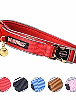 cheap -classic dog collar, comfort soft neoprene padded nylon, ultra safety reflective piping, 4 sizes 5 colors for small medium large dogs, matching leash sold separately (xs/s: 8-13 inch, red)