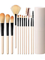 cheap -makeup brush sets 12 pcs makeup brushes travel makeup brush set eye shadow brush, foundation brush, blush brush and other cosmetic tools& #40;rose& #41;