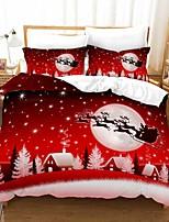 cheap -Christmas Gift Home Textiles 3D Print Bedding Set Duvet Cover Set with Pillowcase 2/3pcs Bedroom Duvet Cover Sets For Christmas Decoration