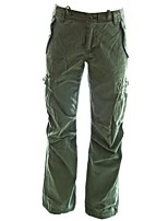 cheap -women's rope-belted relaxed fit regular rise green cargo pants   usa 4/s (tag s) field green