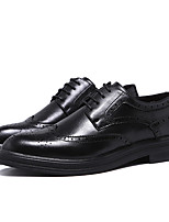 cheap -Men's Oxfords Daily Walking Shoes PU Breathable Black / Brown Spring / Fall
