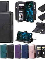 cheap -Case For Apple iPhone 11 iPhone 11 Pro iPhone 11 Pro Max Wallet Card Holder with Stand Full Body Cases Solid Colored PU Leather TPU for iPhone 12 iPhone Xs Max iPhone Xr iPhone Xs iPhone X