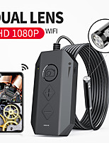 cheap -5M1080P Dual-Lens Endoscope Wireless Endoscope with 8 LED Lights Inspection Camera Zoomable Snake Camera For Android & iOS Tablet hard wire 5M