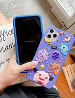 cheap -Case For Apple iPhone SE 2020 iPhone 11 Pro Max XS Max XR X 7 8 Plus 6 6s Plus Pattern Back Cover 3D Cartoon Silica Gel