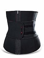 cheap -women's waist trainer corset latex waist protection body shaping sports belt weight loss (black, m)