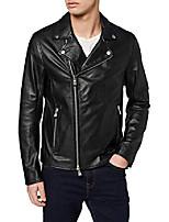 cheap -a x armani exchange men's sheep leather zip up motorcycle jacket, black, xs