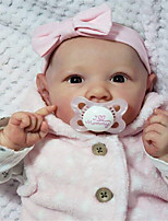 cheap -22 inch Reborn Doll Baby & Toddler Toy Baby Girl Reborn Baby Doll Saskia Simulation Hand Applied Eyelashes Floppy Head Natural Skin Tone Moving Limbs Cloth Silicone Vinyl with Clothes and Accessories