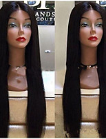 cheap -Synthetic Wig Straight Middle Part Wig Very Long Natural Black Synthetic Hair Women's Fashionable Design Waterfall Black
