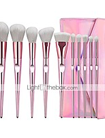 cheap -10pcs unicorn makeup brush set professional foundation powder cream blush make up brushes with diamond bag & #40;white hair& #41;