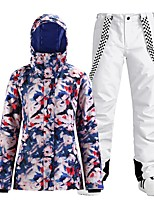 cheap -Women's Ski Jacket with Pants Skiing Snowboarding Winter Sports Waterproof Windproof Warm 100% Polyester Clothing Suit Ski Wear
