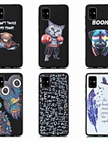 cheap -Case For Samsung Galaxy S20 Ultra S20 PLUS A51 5G Shockproof Frosted Pattern Back Cover sky Animal Feathers TPU for Galaxy A71 5G A21s A81 Note 20  S10 Lite A90