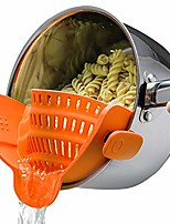 cheap -snap n strain strainer - orange | patented clip on silicone colander | fits all pots and bowls
