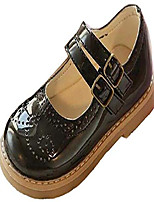 cheap -toddler little girls retro brogues double ankle strap mary janes oxford flats school uniform dress shoes-black 7 us size